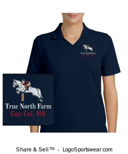 TNF navy dry tek polo - ladies Design Zoom